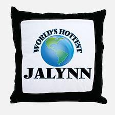 World's Hottest Jalynn Throw Pillow