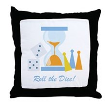 Roll The Dice! Throw Pillow