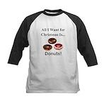 Christmas Donuts Kids Baseball Jersey