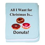 Christmas Donuts baby blanket