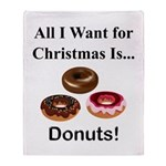 Christmas Donuts Throw Blanket