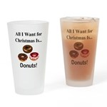 Christmas Donuts Drinking Glass