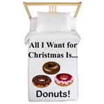 Christmas Donuts Twin Duvet