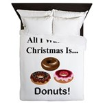 Christmas Donuts Queen Duvet