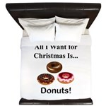 Christmas Donuts King Duvet