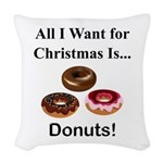 Christmas Donuts Woven Throw Pillow