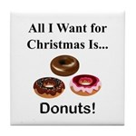 Christmas Donuts Tile Coaster