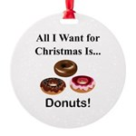 Christmas Donuts Round Ornament
