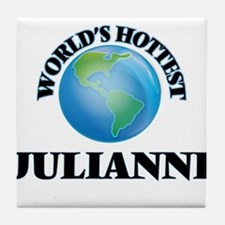 World's Hottest Julianne Tile Coaster