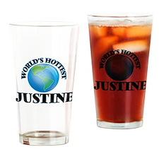 World's Hottest Justine Drinking Glass