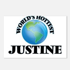 World's Hottest Justine Postcards (Package of 8)
