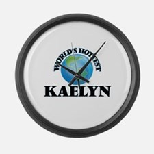 World's Hottest Kaelyn Large Wall Clock