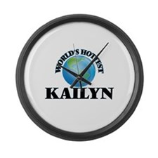 World's Hottest Kailyn Large Wall Clock