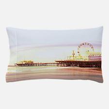 Santa Monica Pier Sunrise Pillow Case