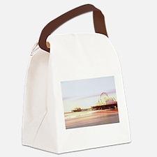 Santa Monica Pier Sunrise Canvas Lunch Bag