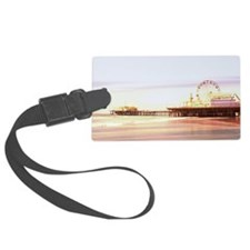 Santa Monica Pier Sunrise Luggage Tag
