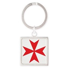Red Maltese Cross Keychains