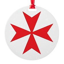 Red Maltese Cross Ornament