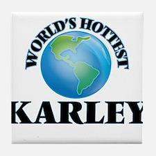 World's Hottest Karley Tile Coaster