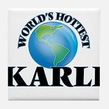 World's Hottest Karli Tile Coaster