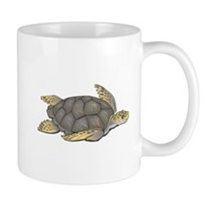 Brown Swimming Sea Turtle Mug