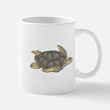 Brown Swimming Sea Turtle Mug