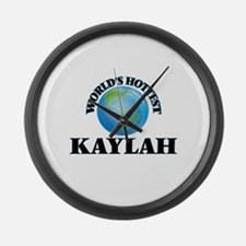 World's Hottest Kaylah Large Wall Clock