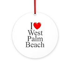 """I Love West Palm Beach"" Ornament (Round)"