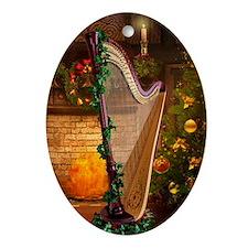Christmas Harp Ornament (Oval)