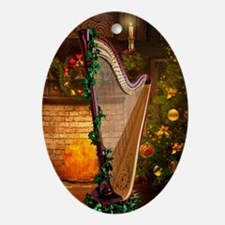 Christmas Harp Ornament (Oval)