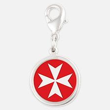 White Maltese Cross Charms