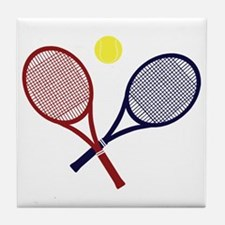 Tennis Rackets Tile Coaster