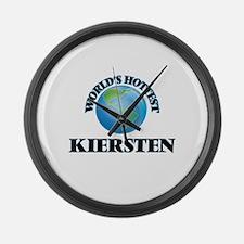World's Hottest Kiersten Large Wall Clock