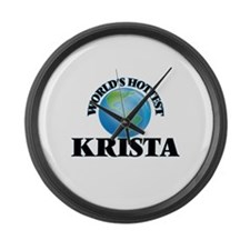 World's Hottest Krista Large Wall Clock