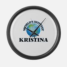 World's Hottest Kristina Large Wall Clock