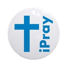 iPray Christian Ornament (Round)