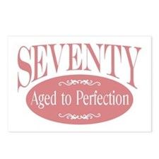 70th aged to perfection Postcards (Package of 8)