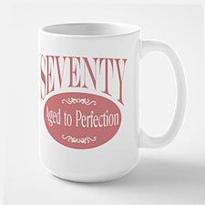 70th aged to perfection Mug