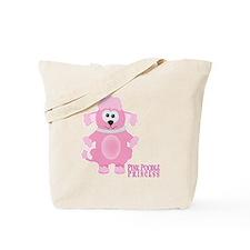 Pink Poodle Princess Tote Bag