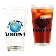 World's Hottest Lorena Drinking Glass