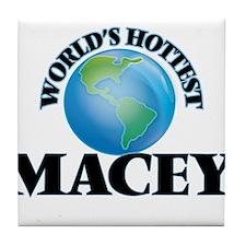 World's Hottest Macey Tile Coaster