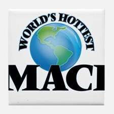 World's Hottest Maci Tile Coaster