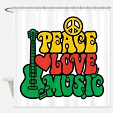 Reggae Peace Love Music Shower Curtain