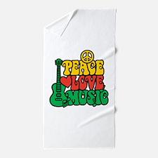 Reggae Peace Love Music Beach Towel