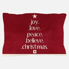 Christmas Word Tree Pillow Case