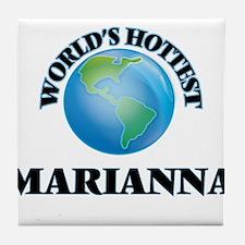 World's Hottest Marianna Tile Coaster