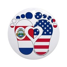 Costa Rican American Baby Ornament (Round)