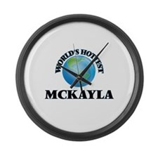 World's Hottest Mckayla Large Wall Clock