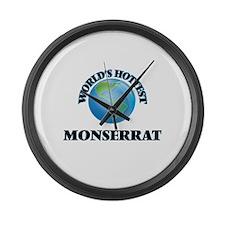 World's Hottest Monserrat Large Wall Clock