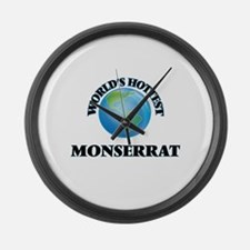 World's Hottest Monserrat Large Wall Clock